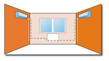 Пример стандартного монтажа кондиционера